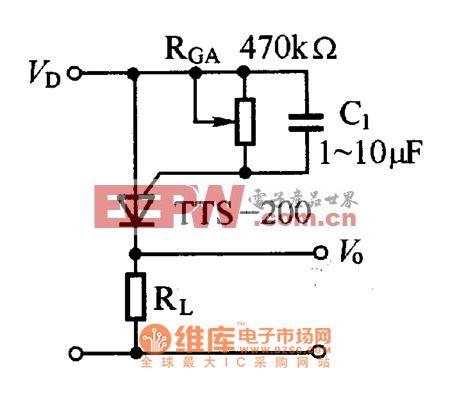 TTS-200列温控晶体闸管基本应用电路图