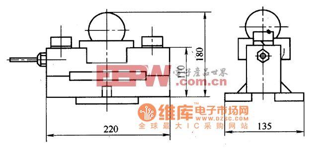 CL-YB-405型桥式力传感器外形电路图