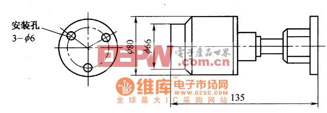 CZG-GD-500系列紫外线火焰传感器外形电路图