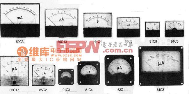 交直流安装式电表外形电路图