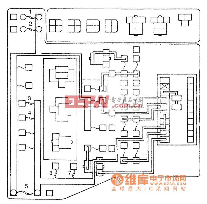 东南菱绅专用保险丝(位于发动机室继电器盒和中继盒(J/B))电气系统电路图