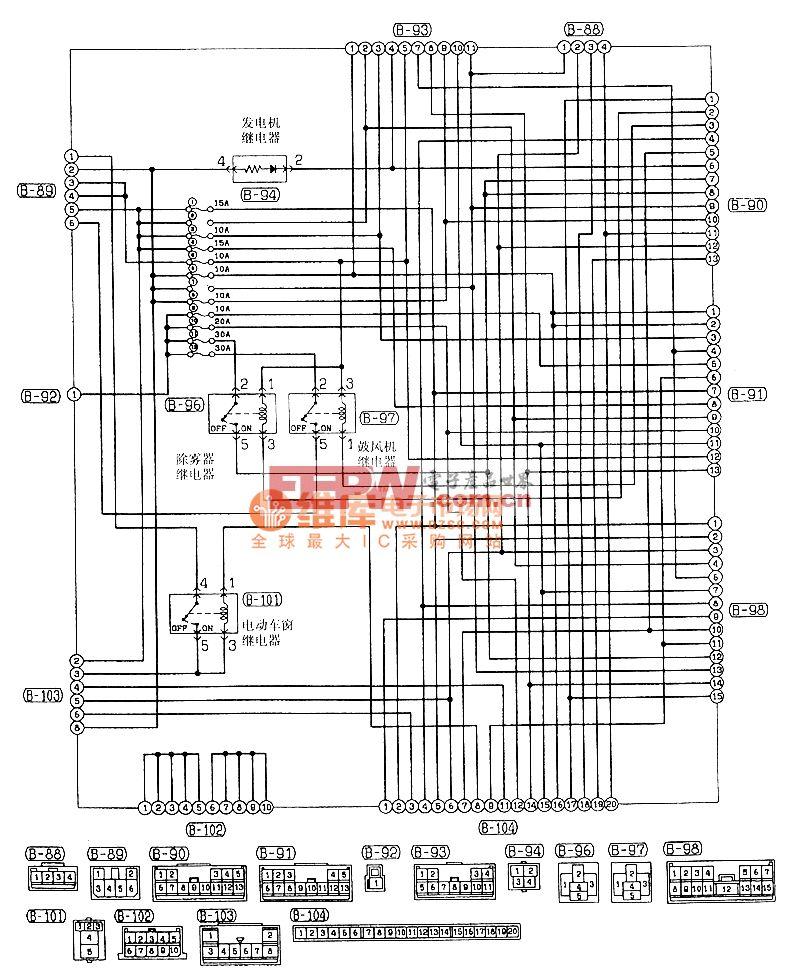 东南菱绅中继盒(J/B)电气系统电路图