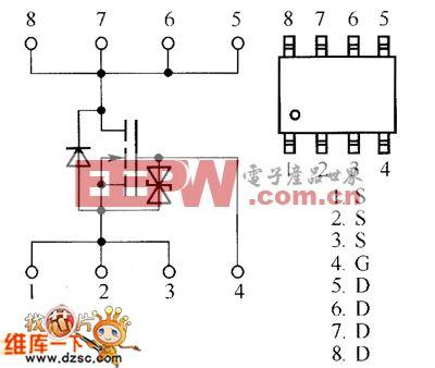 場效應晶體管RSS095N05、RSS100N03、RSS125N03、RSS130N03內部電路圖