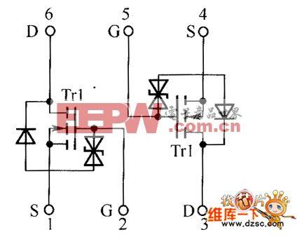 场效应晶体管us6k1,us6k2内部电路图