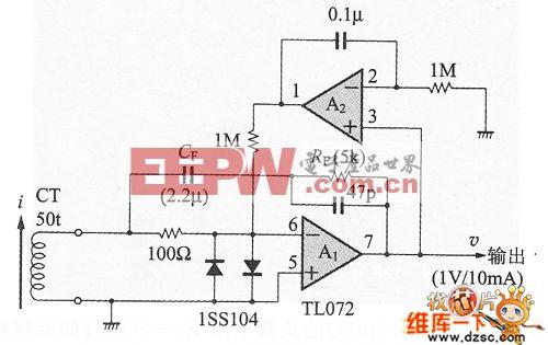 电流互感器的低频补偿电路图