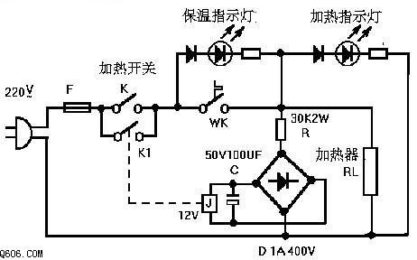 饮水机节电开关制作 电路图 电子产品世界高清图片