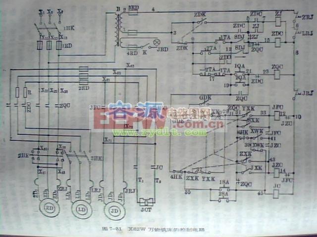 铣床/介绍X62W万能铣床电路图...
