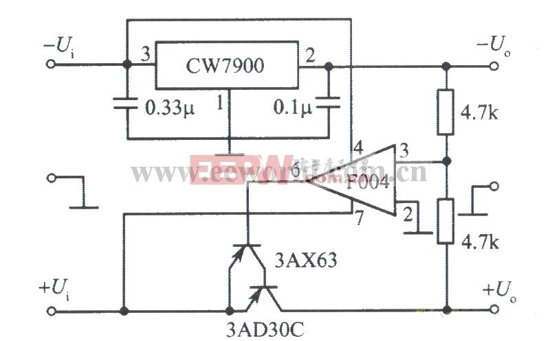 00V高压输出直流稳压电源电路图 -其他电源电路图图片