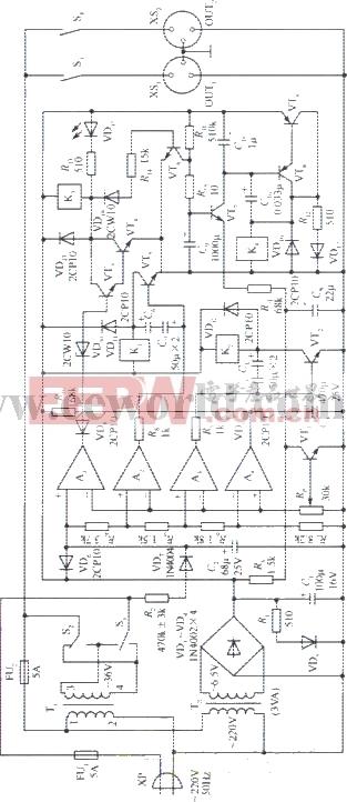 330W交流稳压电源电路图片