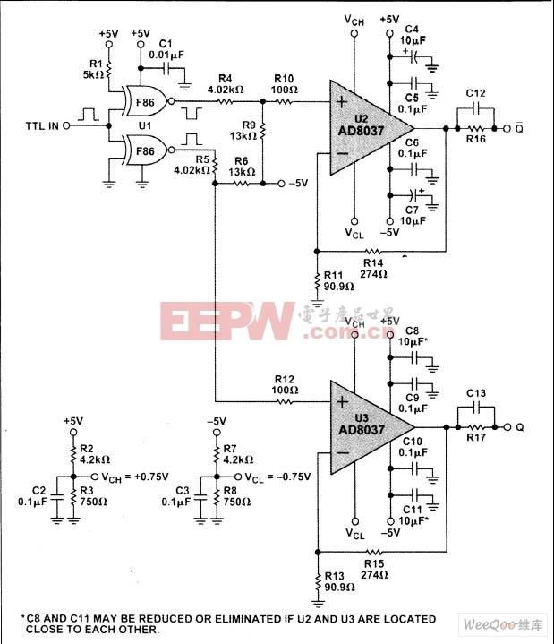 AD8037PIN二极体驱动器电路