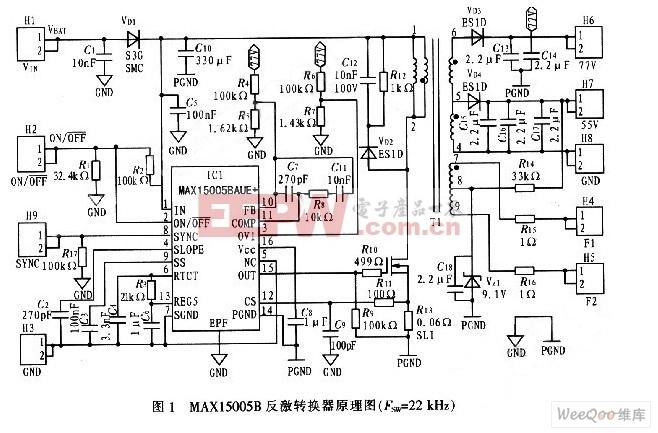 真空管荧光显示器(VFD)供电电源电路图