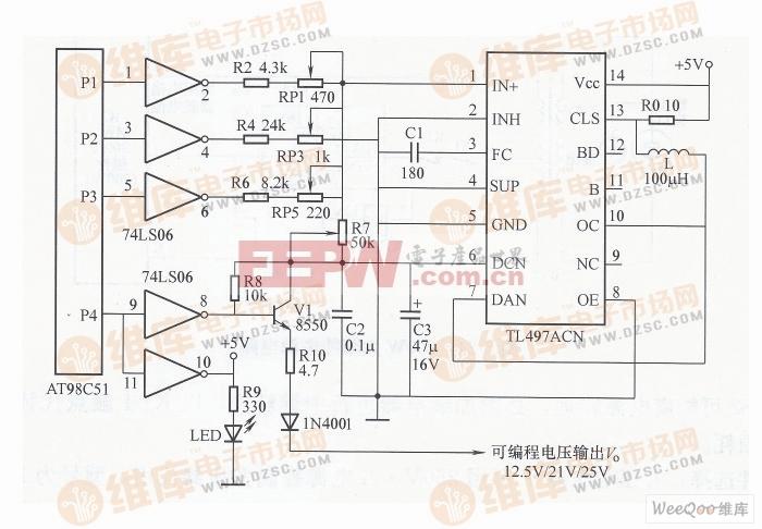 数控编程自动升压电源电路图片