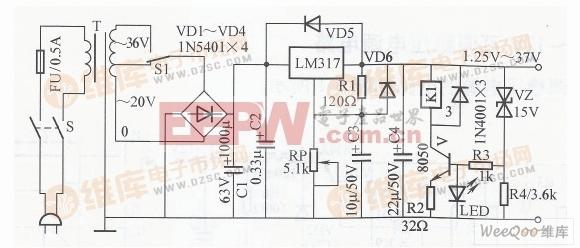步进式集成稳压电源电路图图片