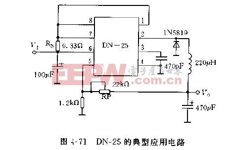 采用DN-25构成的典型应用电路图