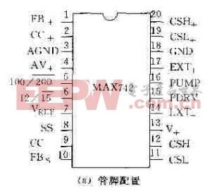 MAX742管脚配置图