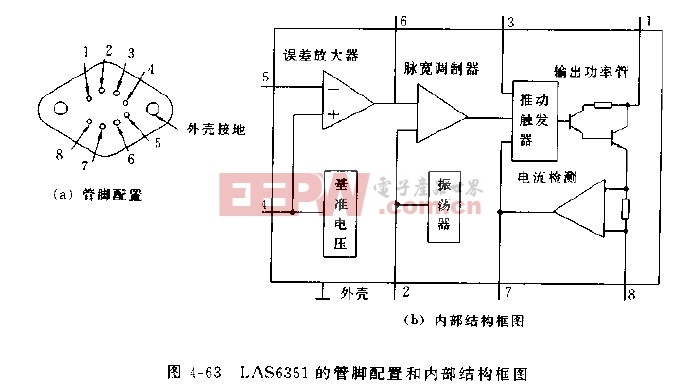las6351开关集成稳压器电路图