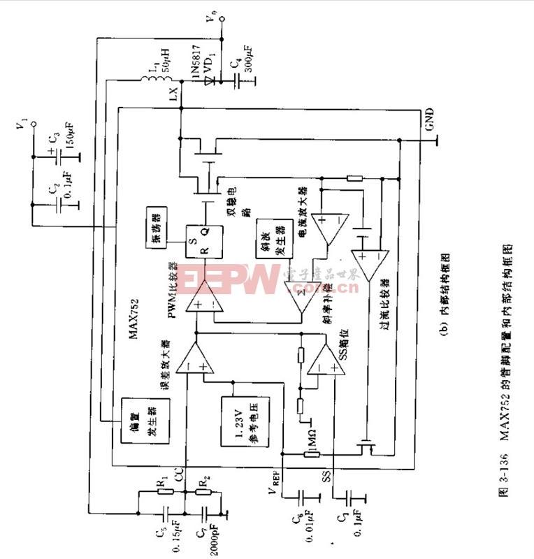MAX752是开关型升压DC/DC变换器应用