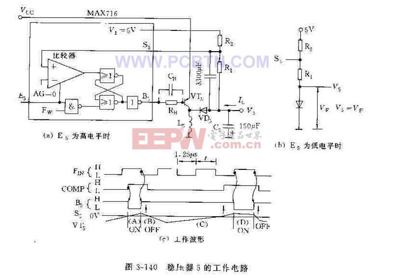 MAX714系列稳压器的工作电路