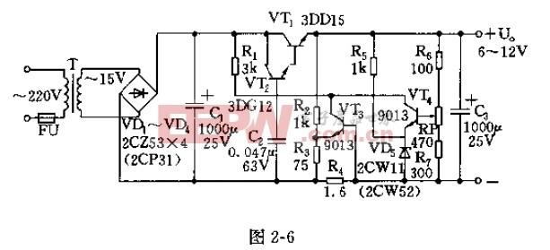 直流稳压器电路图