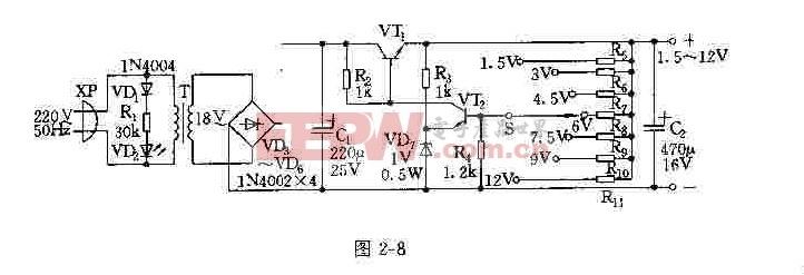 采用发射极输出的串调电源