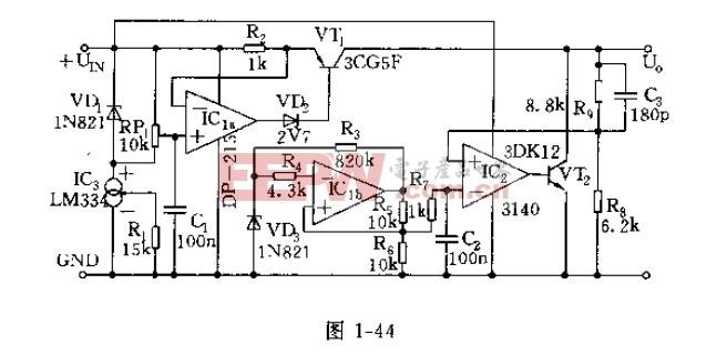 高性能稳压器的电路原理图及其工作原理