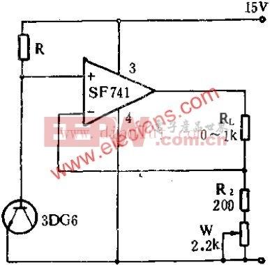 SF741设计的可调式恒流源电路