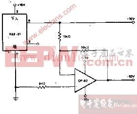 ±10V基准电压源电路