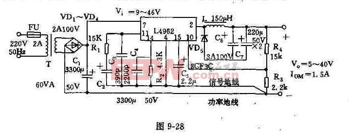由L4962构成的单片开关电源
