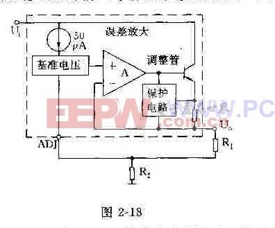 LM317的等效电路框图