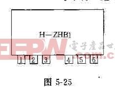 H-ZHB1的管教排列