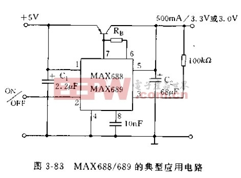 MAX688/689的典型应用电路图