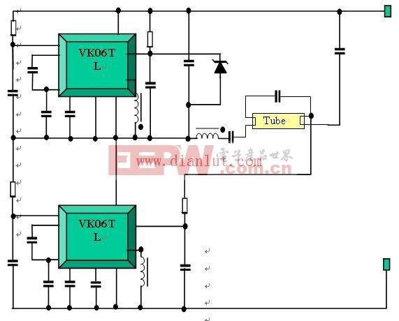 VK06TL模块设计的镇流驱动应用电路