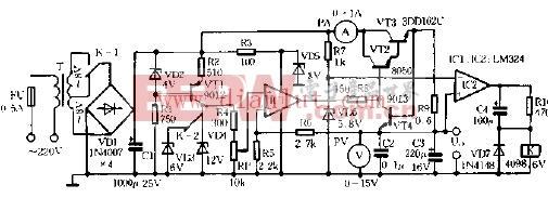 基于LM324设计0-12V可调直流稳压电源电路香奈儿珍珠设计图片