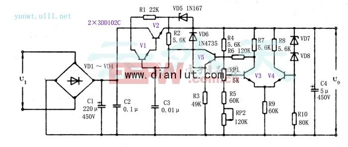 高压直流稳压电源电路的应用图片