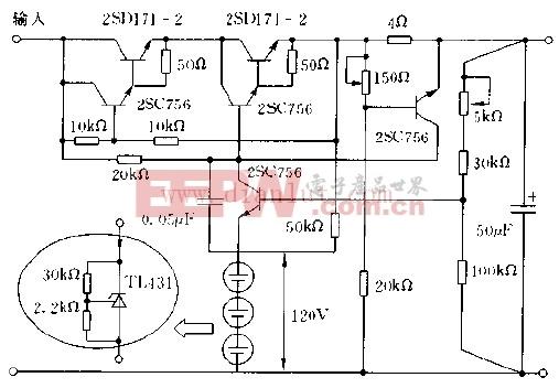 500MA/160V的稳压电源电路原理图