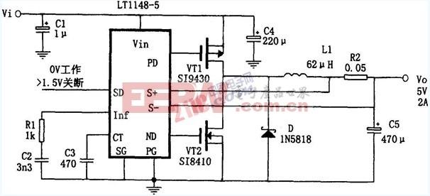 2A降压直流变换电源电路 -降压图片