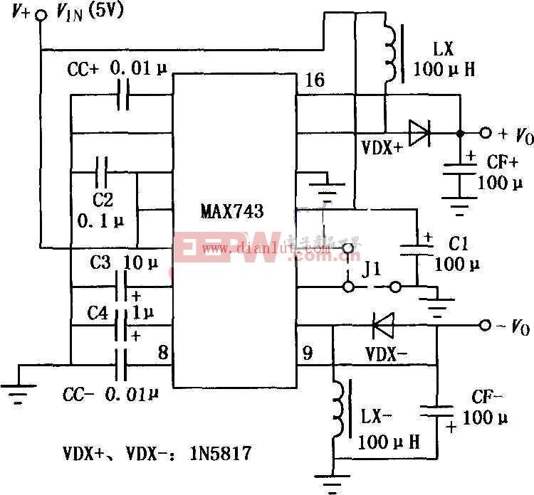 MAX743设计的升压开关型DC-DC变换器