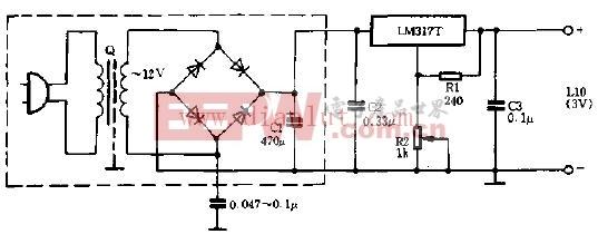 LM317T构成的旧式电源改进电路
