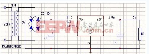 5v稳压电源电路图 (四个原理图)1