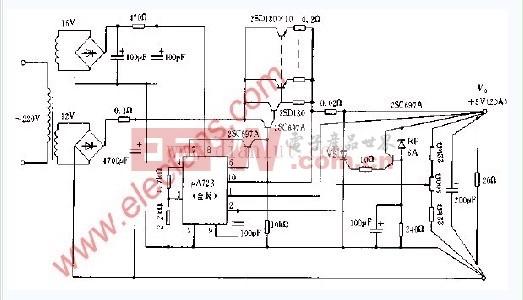 5v稳压电源电路图的四个原理图图片