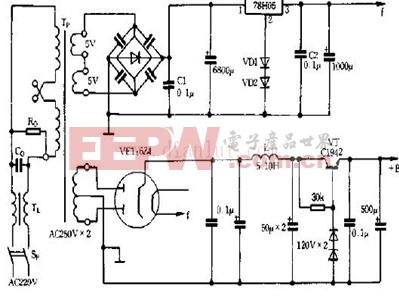 低噪声电子管前级电源原理图