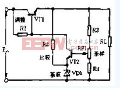 晶体管稳压电源电路图