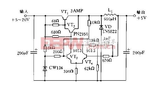 由CW136构成的开关稳压电源电路
