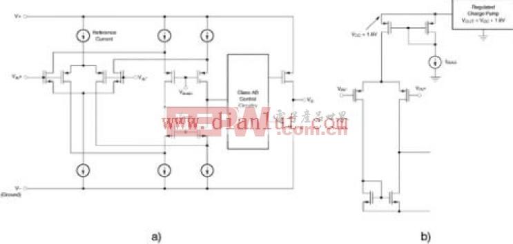单极电源放大器拓扑电路原理图