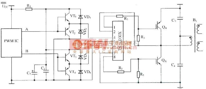 tx-kd301应用接线图原理