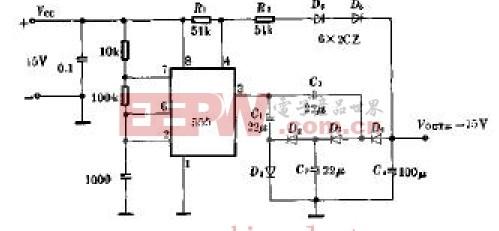 正变负稳压电源电路原理图