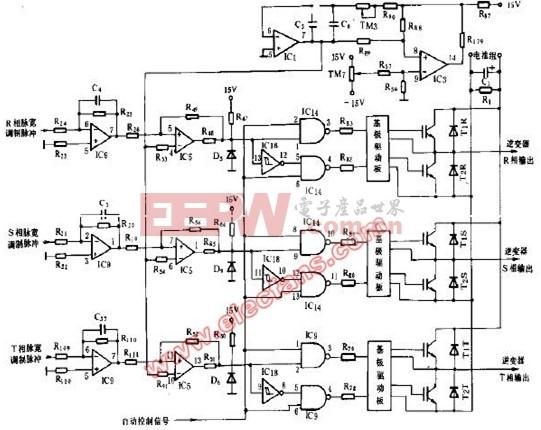 基于采用IGBT驱动的大型UPS电源逆变器驱动电路图
