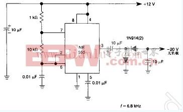 用于弱电流的简易负电源电路设计