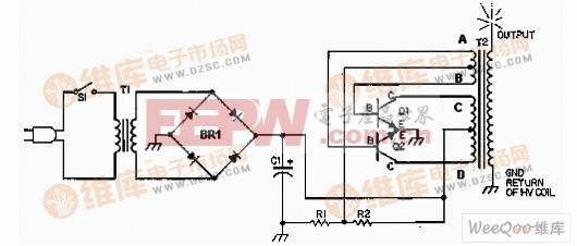 固态特斯拉线圈/高电压发生器电路