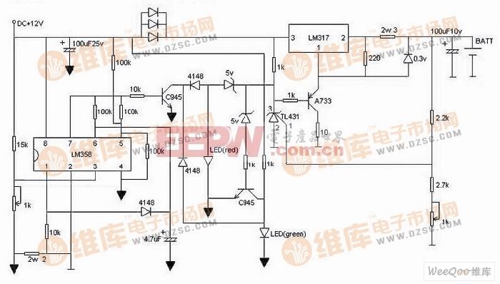锂电池充电器制作电路